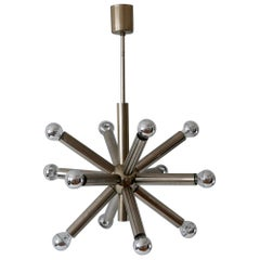 12-Armed Mid-Century Modern Sputnik Chandelier or Pendant Lamp, 1960s, Germany