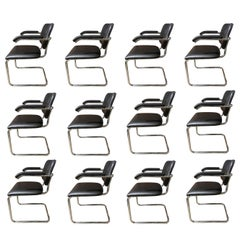 12 Authentic Midcentury Cesca Chairs by Marcel Breuer for Knoll