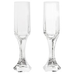 "12 Baccarat ""Mercure"" Fluted Champagne Glasses"