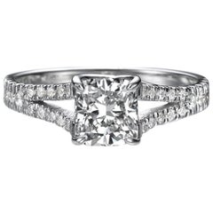 1.2 Carat 14 Karat White Gold Princess Diamond Engagement Ring