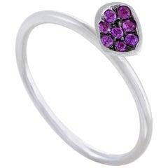.12 Carat 18 Karat White Gold Ruby Pave Ring