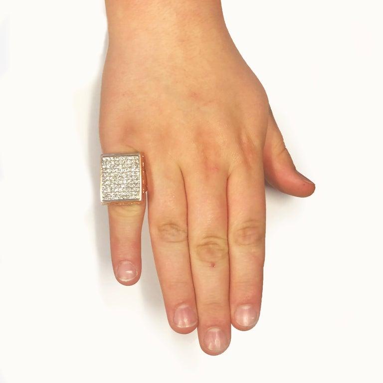 • 12 Carats Of Diamonds G-H, SI • 14K Rose Gold • Men's Ring