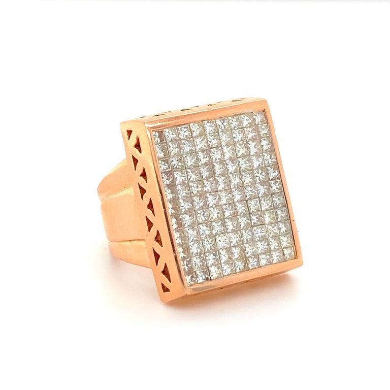 Square Cut 12 Carat Diamond Ring
