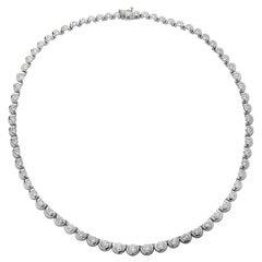 12 Carat Diamond Riviere Necklace