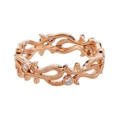 .12 Carat Diamond Rose Gold Wedding Band Ring