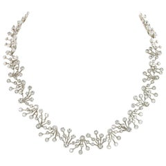 12 Carat Diamond White Gold 750 Necklace