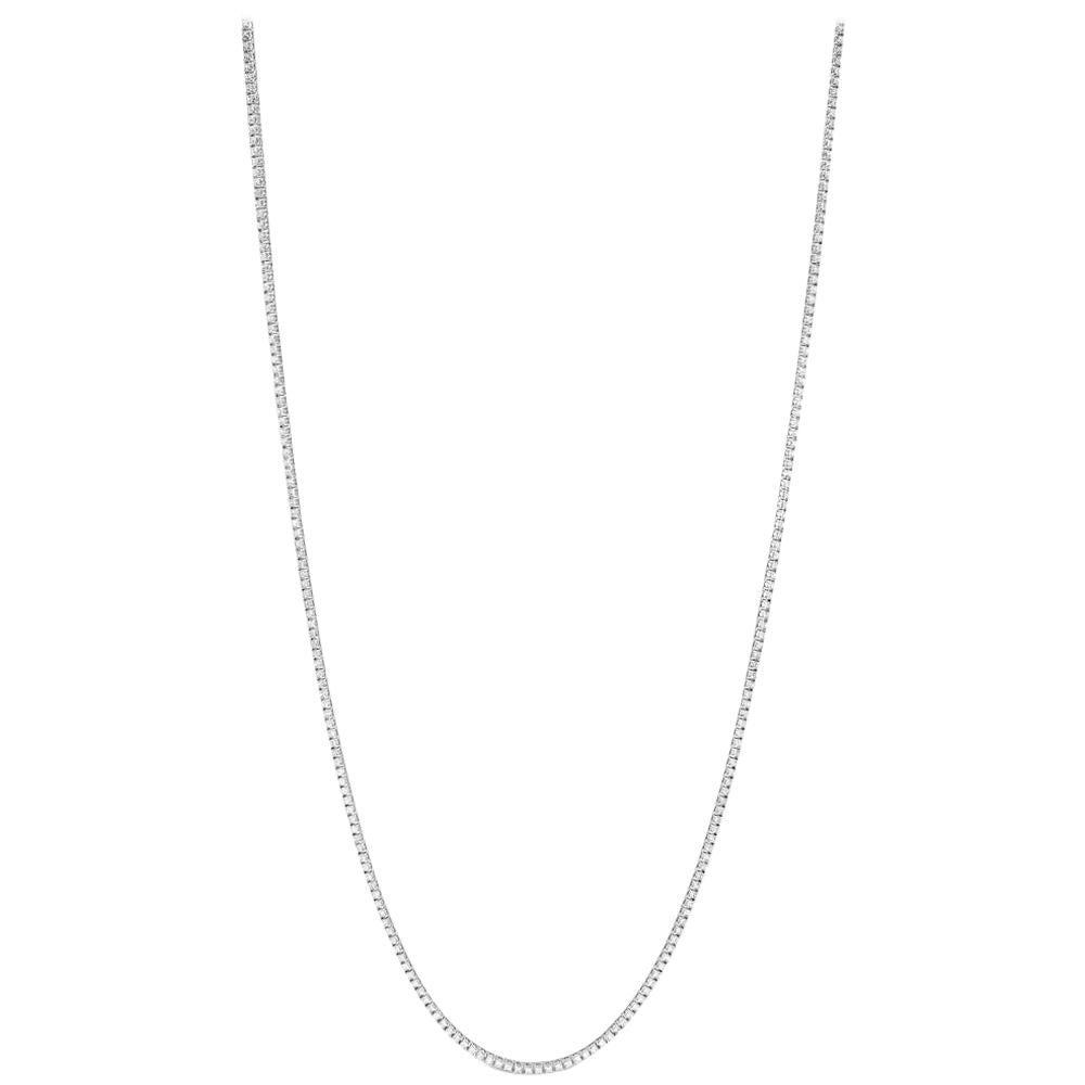 12 Carat Opera Length Diamond Line Necklace