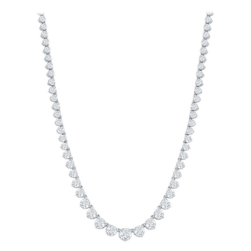 12 Carat Riviera Diamond Necklace