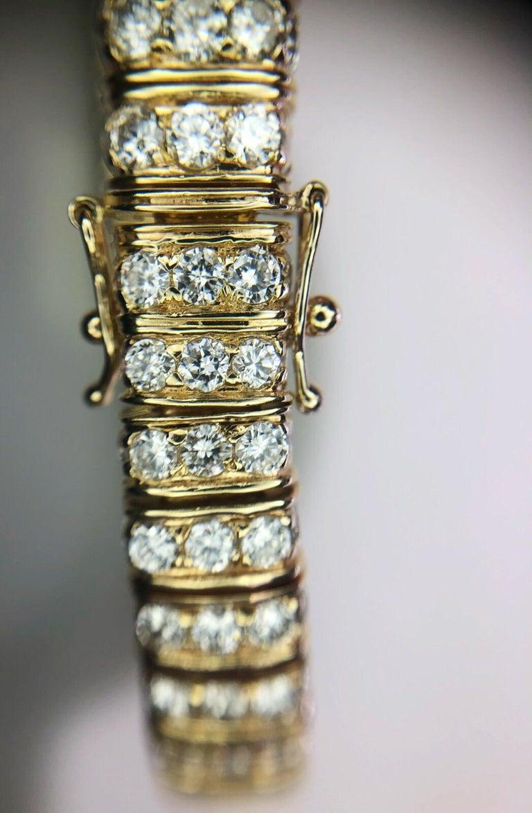 12 Karat inmitten einer Runde natürliche brillanten 14 Karat Gold Armband 4