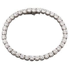 12 Carats Diamonds French Tennis Bracelet