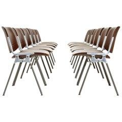 12 'DSC 106' Chairs by Giancarlo Piretti Per Castelli, 1960s