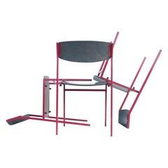 12 Dutch Dining, Stacking Chairs by Gijs van der Sluis Midcentury