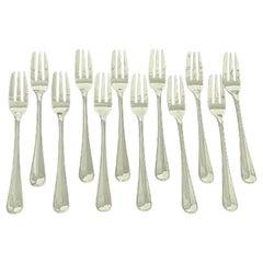 12 Dutch Silver cake Forks, 1941