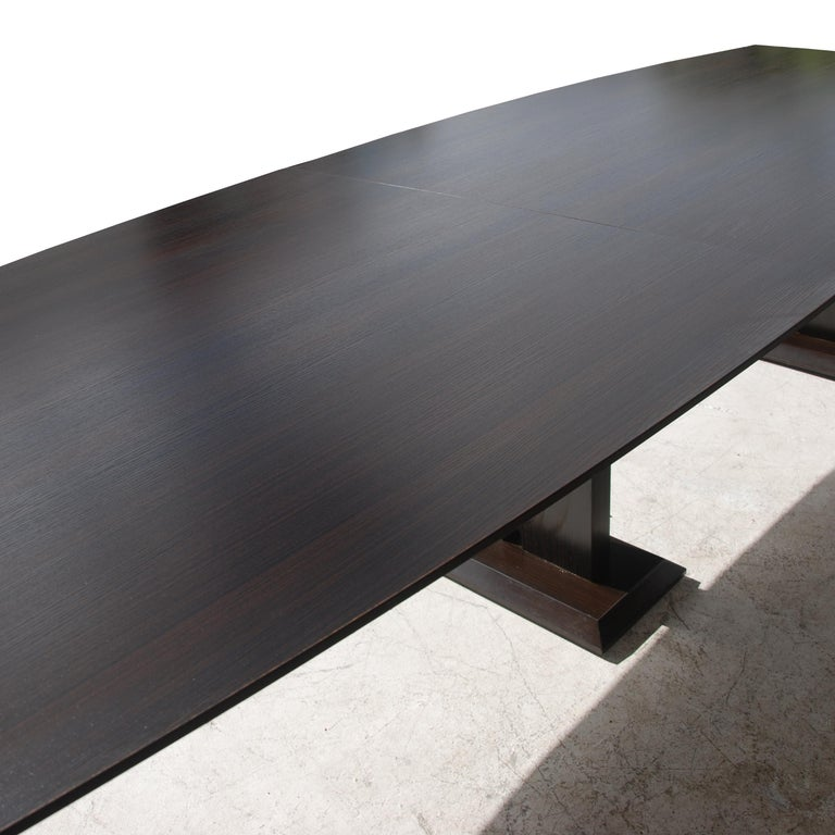 Contemporary 12ft Boat Shaped Dining Table For Sale