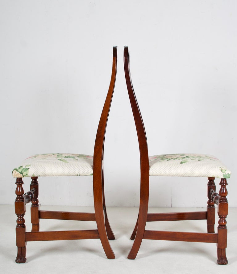 American 12, George III Style Mahogany Dining Chairs, 2 Armchairs, 10 Side Chairs For Sale