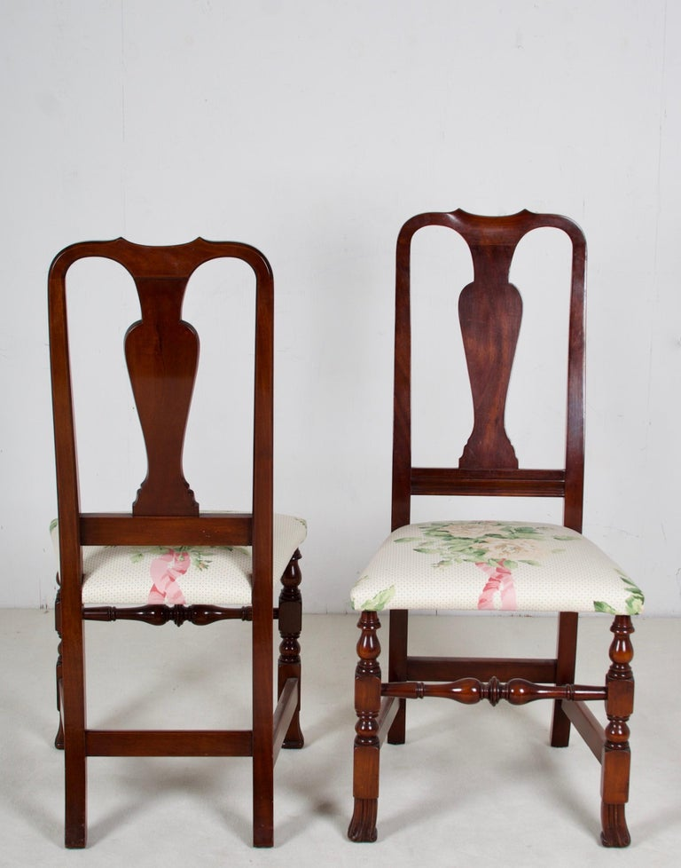 Hand-Crafted 12, George III Style Mahogany Dining Chairs, 2 Armchairs, 10 Side Chairs For Sale