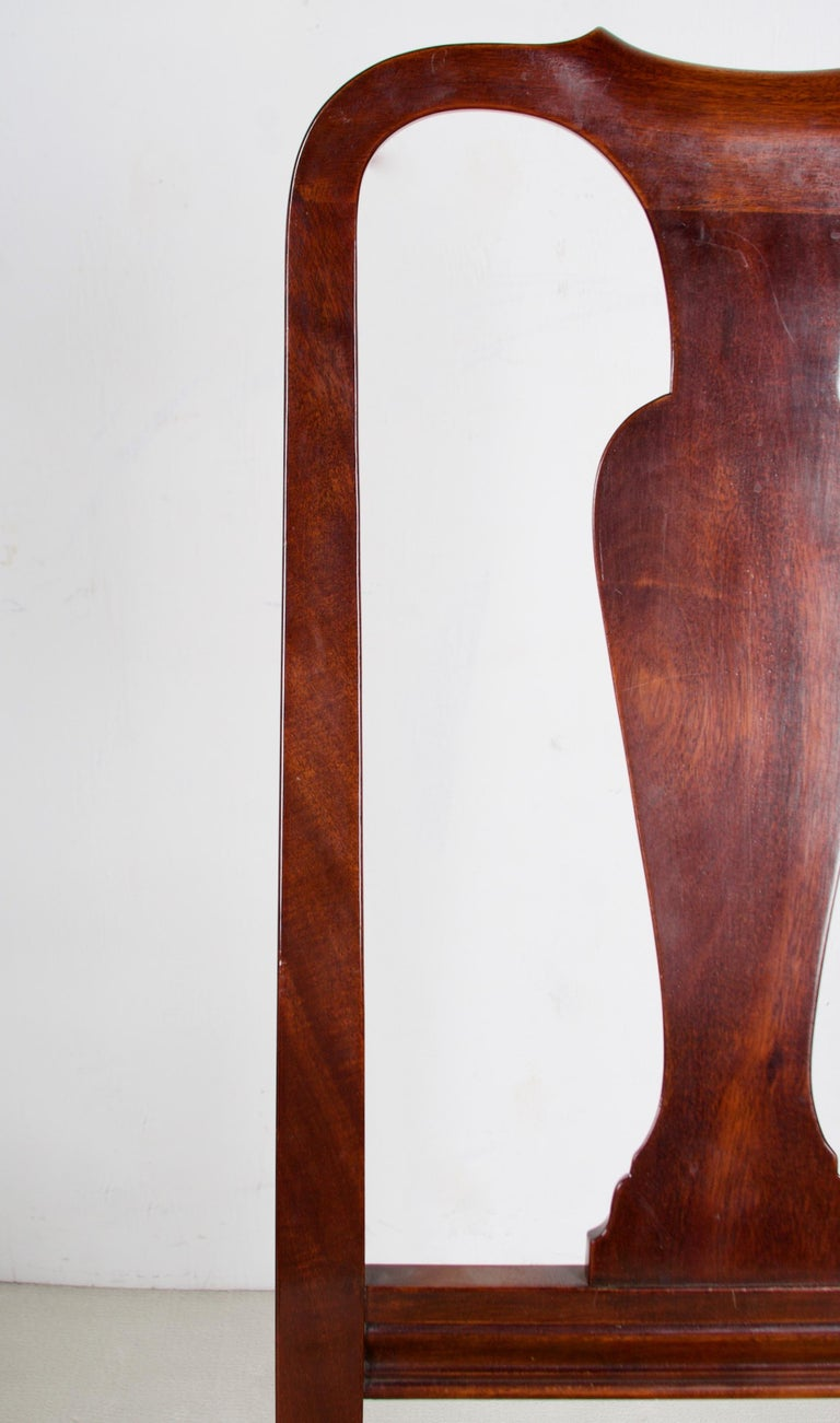 Mid-20th Century 12, George III Style Mahogany Dining Chairs, 2 Armchairs, 10 Side Chairs For Sale