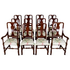 12, George III Style Mahogany Dining Chairs, 2 Armchairs, 10 Side Chairs