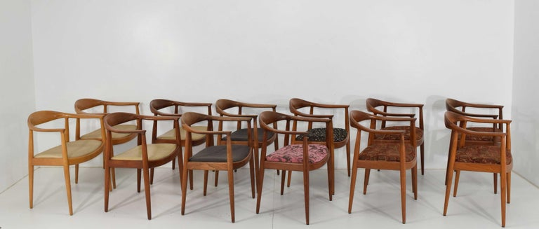 We have 12 Hans Wegner round chairs often referred to as