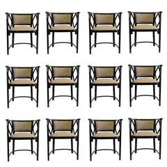 12 Josef Hoffmann Attributed Thonet Bentwood Fledermaus Chairs, Austria, 1930s