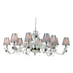 12-Light White Chandelier