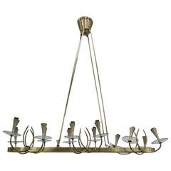 12 Lights Chandelier in Fontana Arte Style