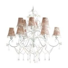 12-Lights Crystal Chandelier
