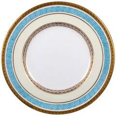 12 Minton Celeste Blue Greek Key Plates