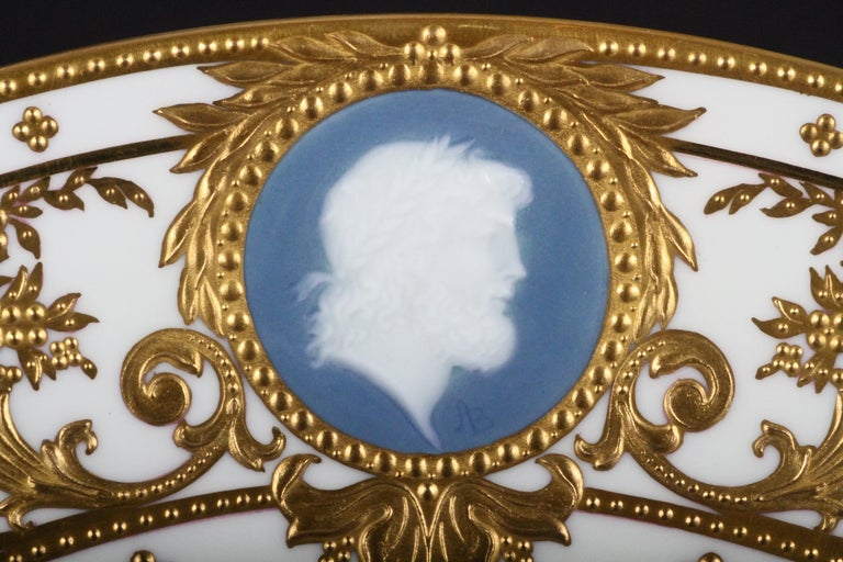12 Minton Pate-sur-Pate Cameo Plates for Tiffany, by Artist Albion Birks For Sale 2