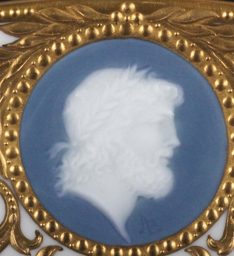 12 Minton Pate-sur-Pate Cameo Plates for Tiffany, by Artist Albion Birks For Sale 3