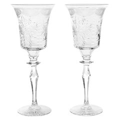 12 Pairpoint Very Tall Water Goblets, Wickham Pattern