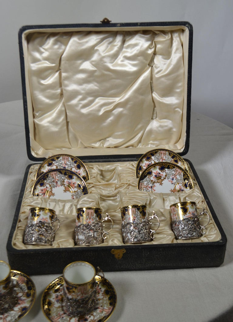 12-Piece Antique Sterling Coffee Service In Good Condition For Sale In Vista, CA