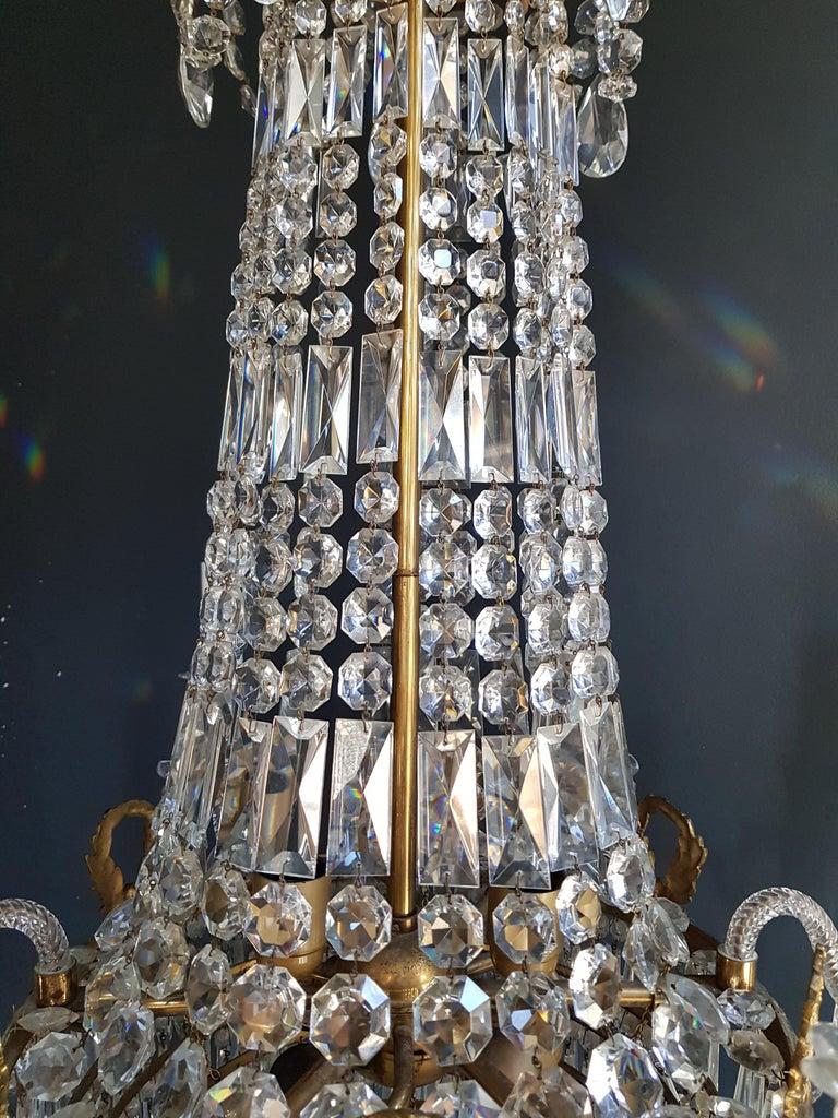 12 Piece Montgolfièr Empire Sac a Pearl Chandelier Crystal Lustre Ceiling Lamp For Sale 3