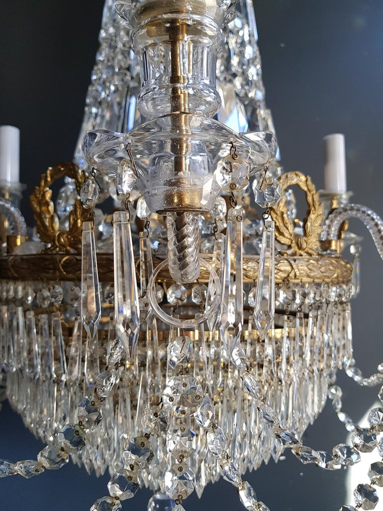 12 Piece Montgolfièr Empire Sac a Pearl Chandelier Crystal Lustre Ceiling Lamp For Sale 5