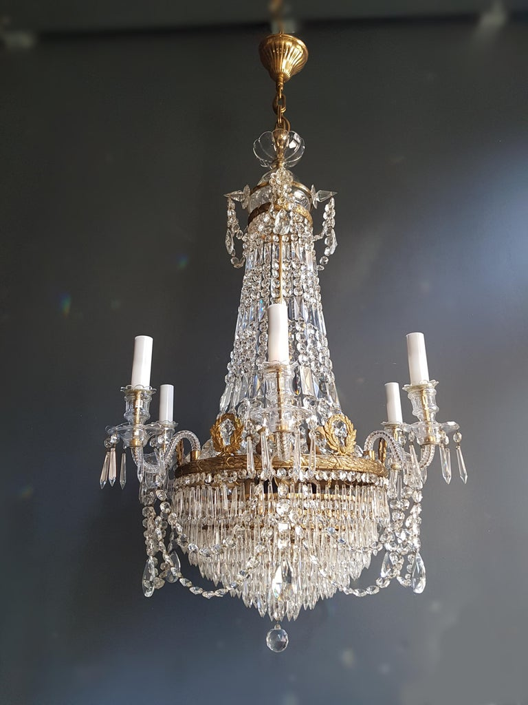 12 Piece Montgolfièr Empire Sac a Pearl Chandelier Crystal Lustre Ceiling Lamp For Sale 6