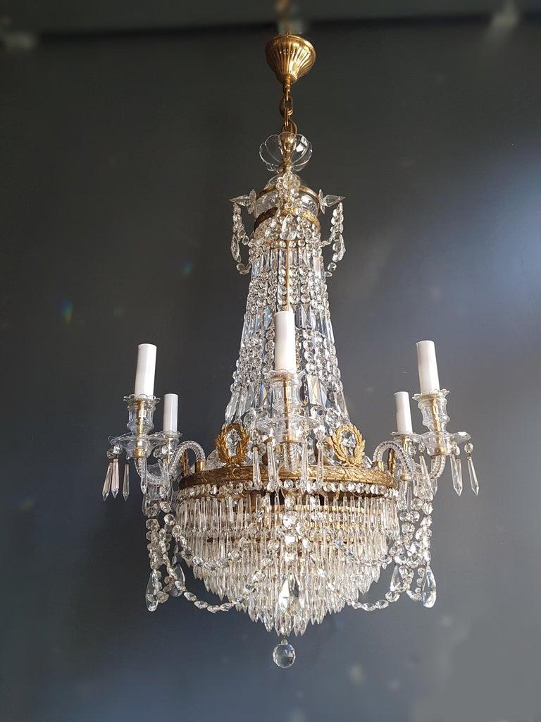 12 Piece Montgolfièr Empire Sac a Pearl Chandelier Crystal Lustre Ceiling Lamp For Sale 5