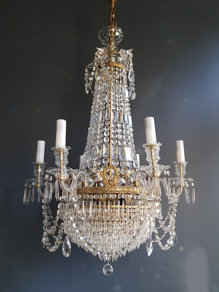 12 Piece Montgolfièr Empire Sac a Pearl Chandelier Crystal Lustre Ceiling Lamp For Sale 7