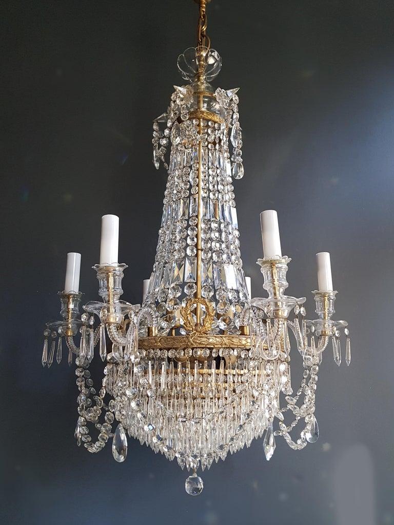 12 Piece Montgolfièr Empire Sac a Pearl Chandelier Crystal Lustre Ceiling Lamp For Sale 6