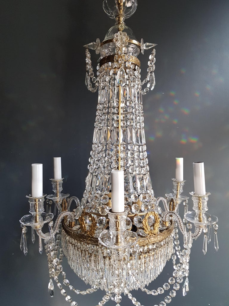 12 Piece Montgolfièr Empire Sac a Pearl Chandelier Crystal Lustre Ceiling Lamp For Sale 8