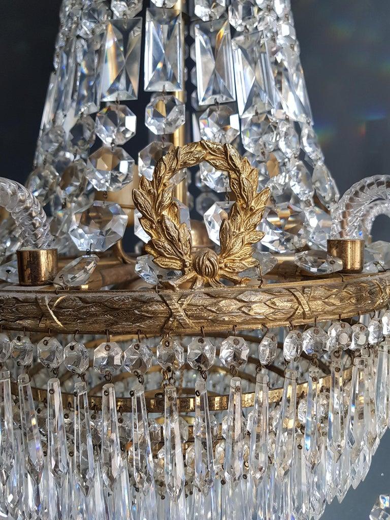 12 Piece Montgolfièr Empire Sac a Pearl Chandelier Crystal Lustre Ceiling Lamp For Sale 9