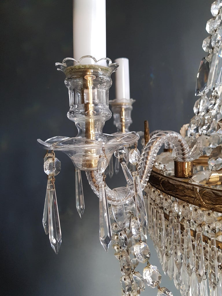 12 Piece Montgolfièr Empire Sac a Pearl Chandelier Crystal Lustre Ceiling Lamp For Sale 10
