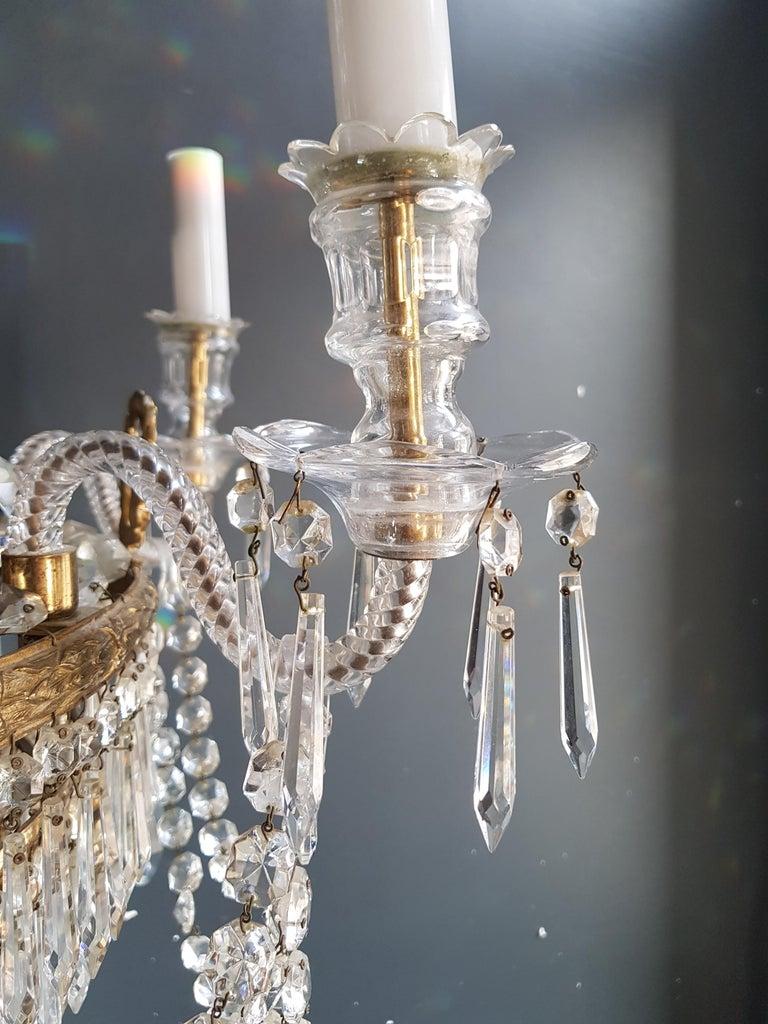 12 Piece Montgolfièr Empire Sac a Pearl Chandelier Crystal Lustre Ceiling Lamp For Sale 11