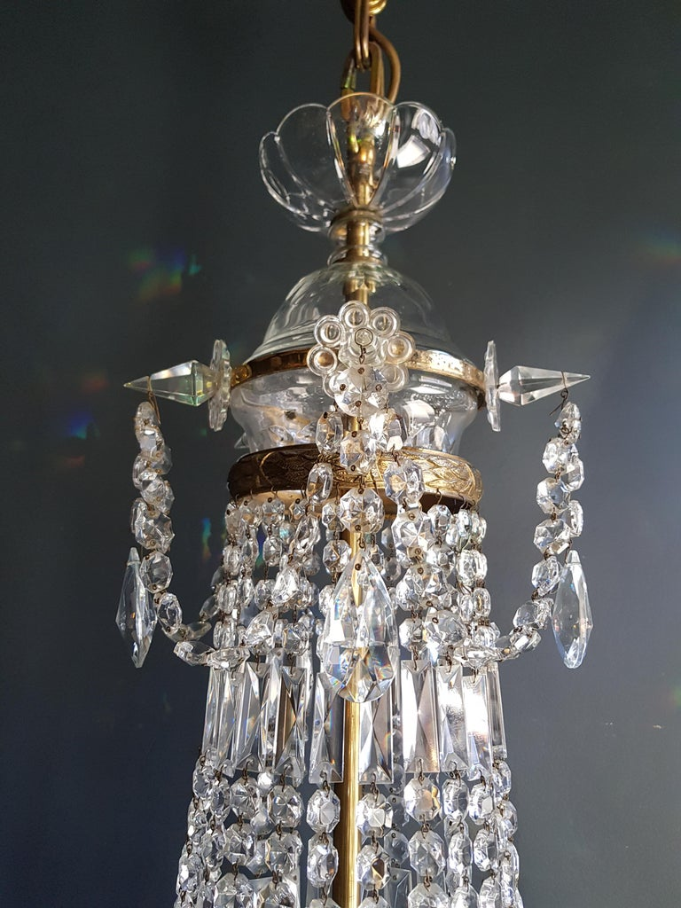12 Piece Montgolfièr Empire Sac a Pearl Chandelier Crystal Lustre Ceiling Lamp In Good Condition For Sale In Berlin, DE
