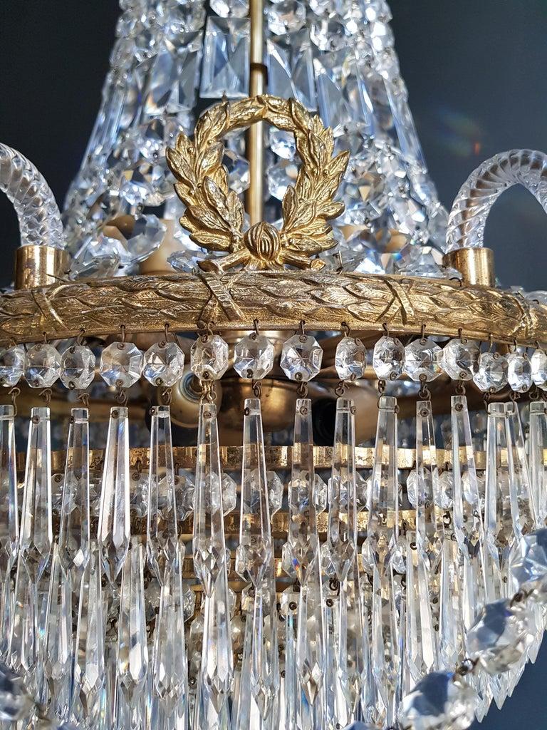 12 Piece Montgolfièr Empire Sac a Pearl Chandelier Crystal Lustre Ceiling Lamp For Sale 1