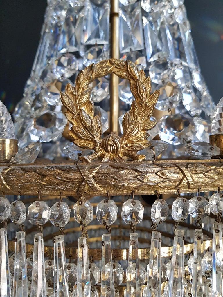 12 Piece Montgolfièr Empire Sac a Pearl Chandelier Crystal Lustre Ceiling Lamp For Sale 2