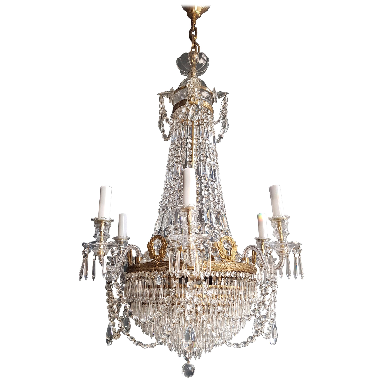 12 Piece Montgolfièr Empire Sac a Pearl Chandelier Crystal Lustre Ceiling Lamp