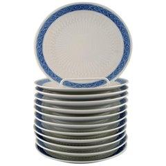 12-Piece Royal Copenhagen Blue Fan, Cake Plates