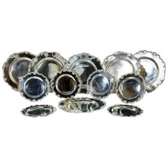 12 Pieces Peruvian Silver Plates by Camusso