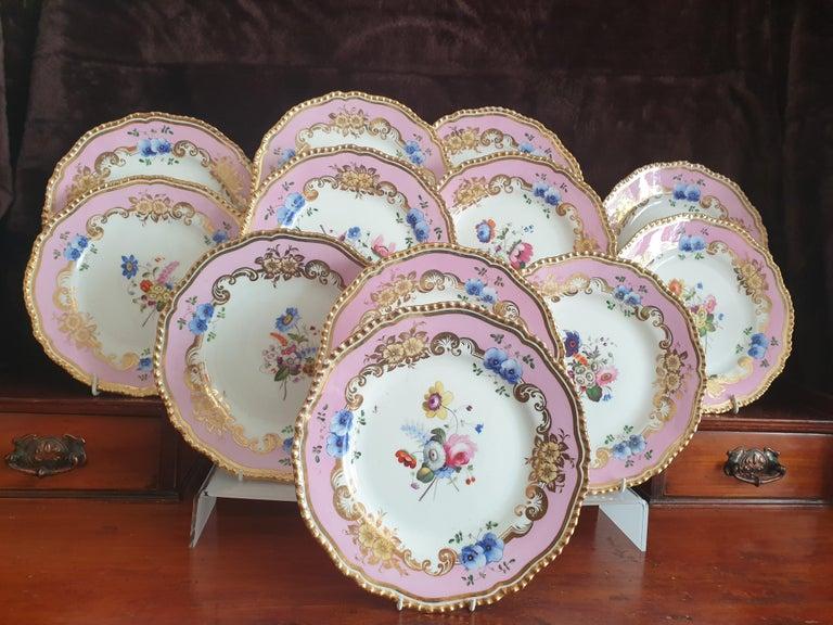 12 Pink Coalport Dessert Service For Sale 7