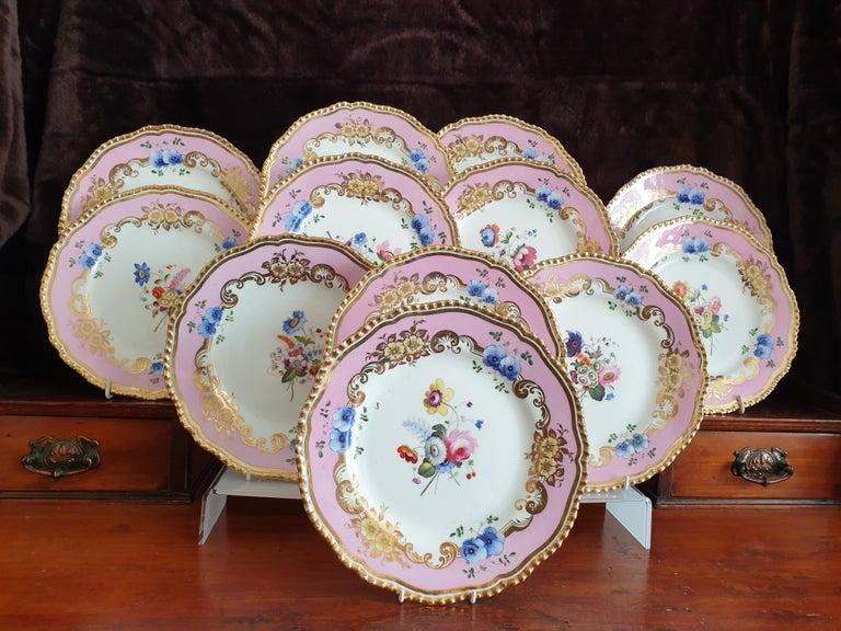 12 Pink Coalport Dessert Service For Sale 8